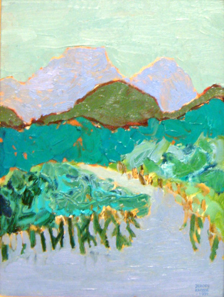 The mangroves on Langkawi Island (1994) | oil painting – 30x40cm – #79102