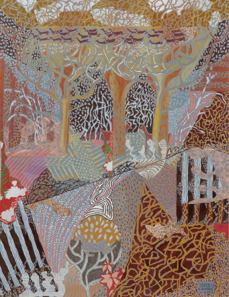 Deer taking refuge in the woods 9 (2003) | mixed media – 65x50cm – #79383