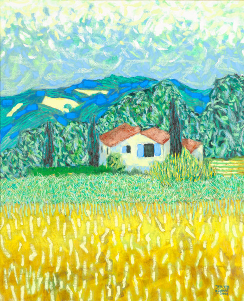 The house at Puymeras (2004) | oil painting – 60x50cm – #79453