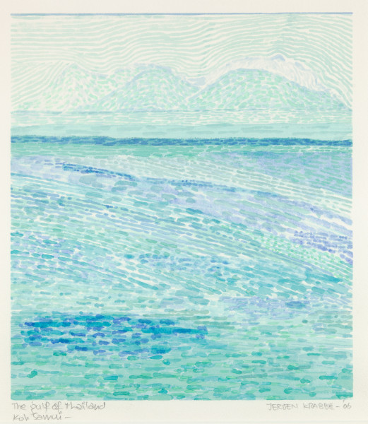 The Gulf of Thailand, Koh Samui (2006) | watercolour – 30x26cm – #79523