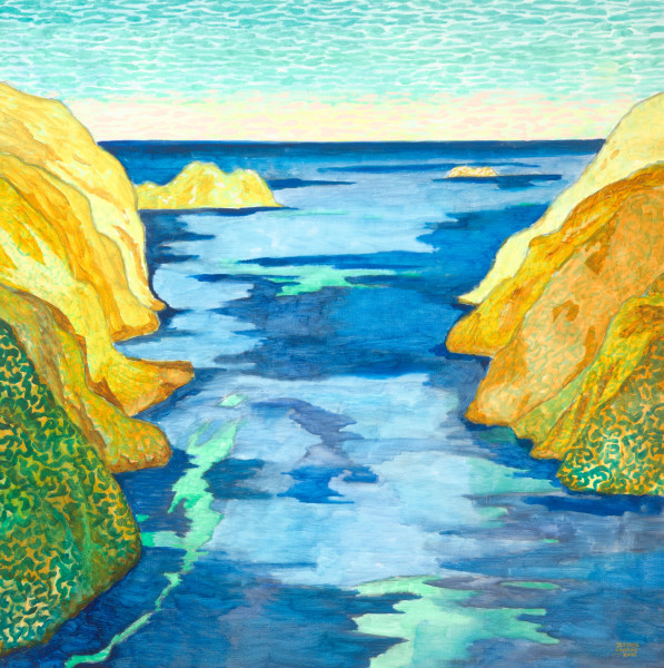 Doubtful Sound, New Zealand (2006) | oil painting – 100x100cm – #79529